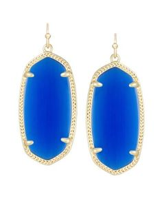 Elle Earrings In Cobalt Blue Cat's Eye