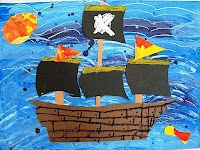 love this pirate ship art lesson. defo one to try