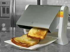 I like this idea--a toaster that puts it on a plate when it is done