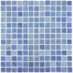 Merola Tile Ruidera Square Blue Pearl 13 in. x 13 in. x 5 mm Glass Mosaic Wall Tile-GTORSBLP - The Home Depot