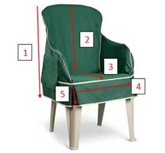 Padded Resin Chair Cover fits easily over your old chair to make it look fresh and new. This resin chair slipcover is padded for comfort and has a handy pocket on the side.
