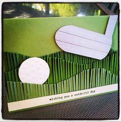 Friday was my eldest brother's birthday and this is the card I made for him. Yes he is a GOLF nut and so it was a fairly easy subject t...