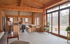straw bale homes interior | straw-bale home uses compressed bales of ... | Dream Home-TINY HOUSE