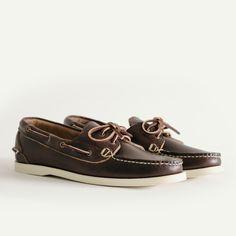 Boat Shoe - Brown Chromexcel, Oak Street Bootmakers. Rock The Casbah, Oak Street, Sperrys, Antique Brass, Boat Shoes, Brown, Leather, Fashion, Moda