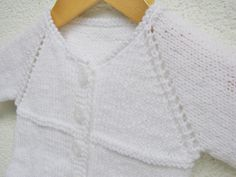 knit baby unisex sweater, white baptism outfit, elegant christening handmade sweater for boy and girl 3-6 months by delectare on Etsy