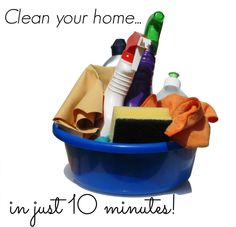 Find out how to go on a quick 7 efficient cleaning spree (and tidy your home in just 10 minutes!) in this organization tips article.