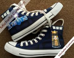 Blue Converse Custom Blue Shoes Hand Painted Shoes, High Top Converse Shoes,Custom Converse,Custom Shoes,Painted Shoes,Birthday Gifts