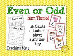 Even or Odd: Farm Theme