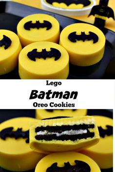 Lego Batman Oreo Cookies Recipe.  These were a big HIT at my son's Lego themed birthday party. Delicious Oreos and lots of Batman!