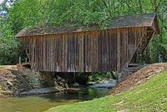 Stovall Mill Bridge Built 1895. It is Georgia's shortest covered bridge. Sautee Georgia