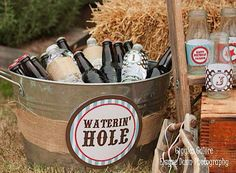 Bucket with drinks/Root Beer
