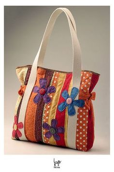 Patchwork tote bag: