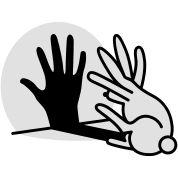 Hand Schattenspiel kaninchen Schattentheater