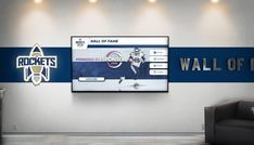 This digital wall of fame highlights athletic awards and honors at schools on a touch screen. Interactive Touch Screen, Interactive Walls, Interactive Display, School Donations, Donor Wall, Rocket Power, Web Platform, Wall Of Fame, Digital Wall