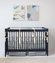 Navy goes with everything, including cribs, don't you think?
