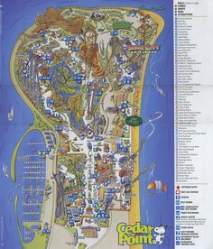 166 Best Theme Park Maps images