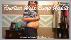 Catch up on my fourteen week pregnancy bump update! Read all about how this pregnancy is going from the very beginning at http://ohwellitslife.com/14-week-bump-update/