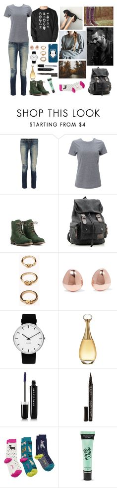 """""""Just Add Coffee"""" by anna-fozo ❤ liked on Polyvore featuring rag & bone, Simplex Apparel, JJ Footwear, Forever 21, Monica Vinader, Rosendahl, Christian Dior, Marc Jacobs, Smith & Cult and Joules"""