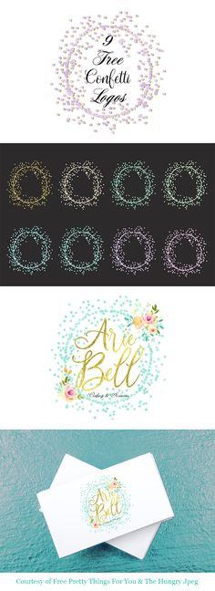 9 Free Confetti Logos are waiting for you over at Free Pretty Things For You. There are so many things you can do with these fun Wreaths! Make Monograms. Cards and so much more! Come and snatch them up! Free Logo Templates, Freebies, Circle Logos, Free Digital Scrapbooking, Circle Pattern, Free Graphics, Police, Happy Planner, Scrapbook Paper