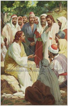Jesus Teaching Disciples to Pray Bible Pictures, Jesus Pictures, Jesus Pics, Religious Pictures, Jesus Our Savior, Jesus Is Lord, Jesus Christ Painting, Jesus Teachings, Jesus Photo