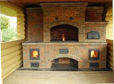 New Wood Burning Stove Outdoor Pizza Ovens Ideas Outdoor Kitchen Patio, Pizza Oven Outdoor, Outdoor Kitchen Design, Outdoor Living, Outdoor Pavillion, Outdoor Firewood Rack, Barbecue Garden, Built In Braai, Four A Pizza
