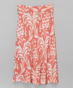 Look at this Coral & White Damask Maxi Skirt - Toddler & Girls by Maya Fashion Maya Fashion, Girl Fashion, Katies Fashion, White Damask, Little Girl Outfits, Style Me, Girl Style, Girly Girl, Toddler Girls