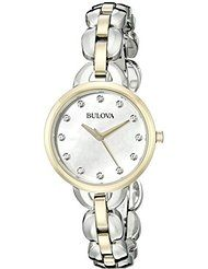 Bulova Women's 98L208 Analog Display Japanese Quartz Two Tone Watch by Bulova $77.96$275.00Prime FREE Shipping on eligible orders Show only Bulova items 4.6 out of 5 stars 5