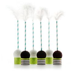 Inverted cake pops display.  How fun!