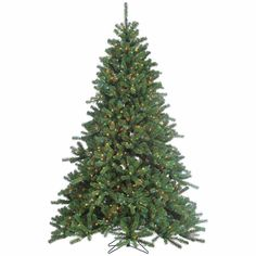 Christmas Decors Multi-Color Lights Pre-Lit Grand Canyon Spruce Artificial Tree