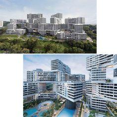 دهکده شش ضلعی عمودی در سنگاپور...یک مجتمع ساختمانی در سنگاپور با طراحی عمودی در فستیوال جهانی معماری سال دوهزار و پانزده به عنوان معماری برتر سال انتخاب شده است. این مجتمع از سی و یک ساختمان شش طبقه تشکیل شده است.مدیر جشنواره جهانی معماری، پل فینچ گفت: این درهم تنیدگی، یک نمونه خیره کننده از تفکر معماری معاصر است.هر بلوک این آپارتمان ها هفتاد متر بلندی دارد و هشت حیاط بزرگ در اطراف آنها مرتب شده اند