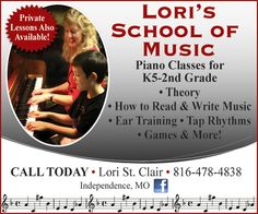 Lori's School of Music offers classes and private lessons for younger kids to learn how to play music!  // For more family resources visit www.ifamilykc.com! :)