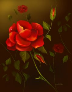 Fine Art Prints For Sale  Red Roses-Home and Garden Design Ideas