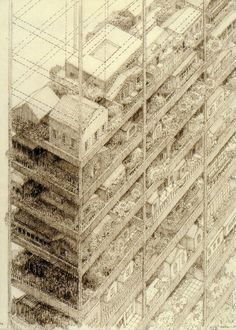 Highrise of Homes   New York, NY, United States. 1981   Architect: James Wines
