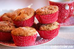 Pæremuffins med kanel | Det søte liv Liv, Muffins, Cupcakes, Baking, Breakfast, Food, Morning Coffee, Muffin, Patisserie