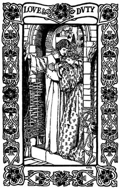 """Poems by Alfred Lord Tennyson,"" Illustration by Eleanor Fortescue-Brickdale. (1871-1945)"