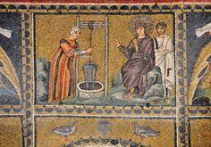 Basilica di Sant'Apollinare Nuovo, Ravenna. Mosaici dell'inizio del VI secolo.  Il periodo di Teodorico