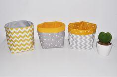 3 Paniers corbeilles panières pochons de rangement étoile/chevron pour bébé,vide-poche : Puériculture par lbm-creation
