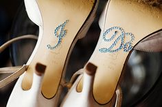 Blue I Do Shoe Stickers for Brides Shoes by TheBridalPropShop