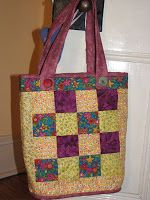 Mad Quilter: How To Make A Quilted Tote Bag