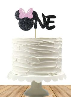 Minnie-inspired Cake Topper, Smash Cake Top, Minnie Birthday, Birthday, Custom, Any Age, Baby, Disney Inspired, One, Two