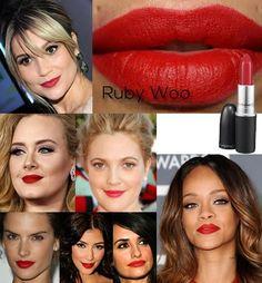 Mac lipstick swatch ruby woo