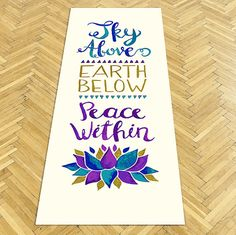 Sky Above Earth Below Yoga Mat by PomGraphicDesign on Etsy