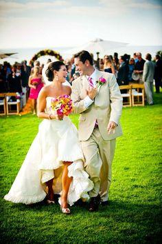 asymmetric wedding dress