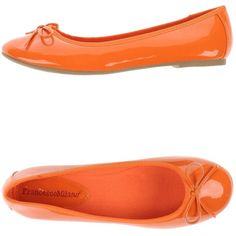 Francesco Milano Ballet Flats (2,810 PHP) ❤ liked on Polyvore featuring shoes, flats, orange, ballerina pumps, orange shoes, ballet pumps, flat shoes et ballerina shoes
