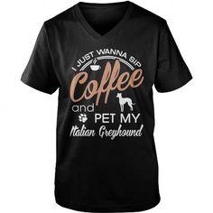Pet my Italian Greyhound  V-Necks T-Shirts, Hoodies ==►► Click Image to Shopping NOW!