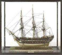 A Napoleonic Prisoner of War Model of the 92 gun ship of the line H. Model Sailing Ships, Model Ships, Ship Of The Line, Work Pictures, Prisoners Of War, Bone Carving, Submarines, Tall Ships, Pirates Of The Caribbean