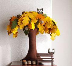 Arbre de chêne en hiboux de décor glands automne par Intres sur Etsy