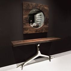 Sideboard table / contemporary / walnut / polished stainless steel ROSE  Hudson Furniture