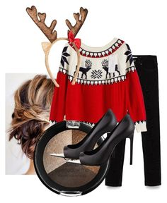 """""""UGLY SWEATER COMPETITION"""" by so-tru-gal on Polyvore featuring Zara and Yves Saint Laurent"""