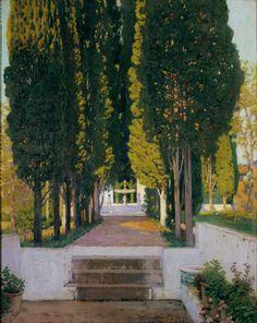 Gardens of the Generalife, 1909, Santiago Rusiñol